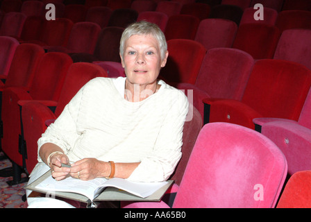 Dame Judi Dench actress author pictured at the Theatre Royal Winchester - Stock Photo