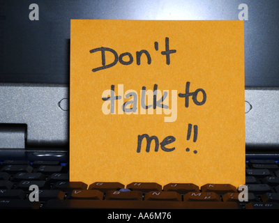 memo note on notebook, Don´t talk to me - Stock Photo