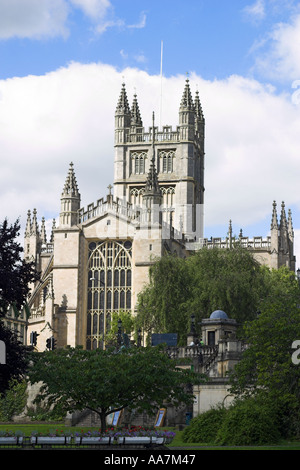 Bath Abbey in June - Stock Photo