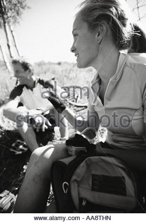 Hikers resting - Stock Photo