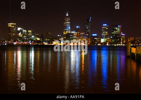 perth city skyline black and white silhouette vector. Black Bedroom Furniture Sets. Home Design Ideas