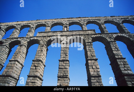 Segovia ancient Roman Aquaduct Aqueduct one of the best preserved in Spain Europe EU - Stock Photo