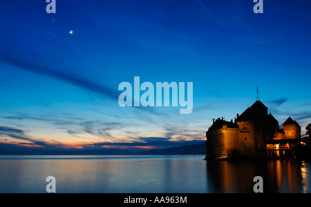 Castle on the lake - Stock Photo