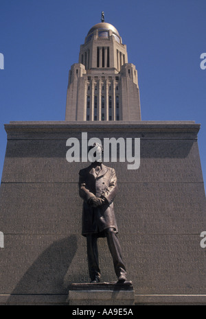 AJ11698, State Capitol, Lincoln, NE, Nebraska - Stock Photo