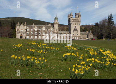 Balmoral Scottish castle estate and grounds  - Royal residences - Deeside Aberdeenshire, Scotland, UK - Stock Photo