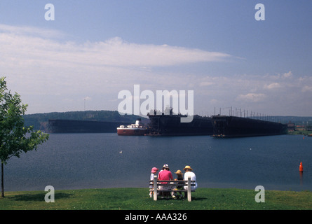 AJ12925, Lake Superior, North Shore, Two Harbors, MN, Minnesota - Stock Photo