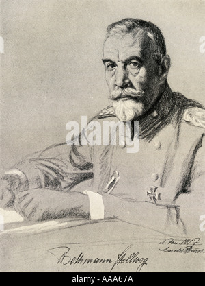 Theobald Theodor Friedrich Alfred von Bethmann-Hollweg, 1856 - 1921. German politician and chancellor of the German - Stock Photo