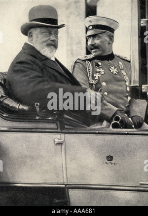 Kaiser Wilhelm II,1859 -1941. Emperor of Germany and King of Prussia, 1888 - 1918, and Edward VII, 1841 - 1910. - Stock Photo