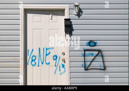 ... Disaster response team s markings on a front door in the Lower Ninth Ward neighborhood of  sc 1 st  Alamy & Disaster response team s markings on a garage door in the Lower ...