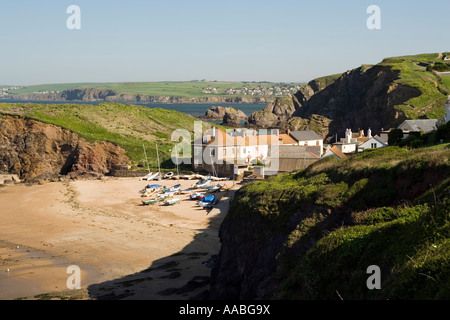 UK Devon Outer Hope harbour - Stock Photo