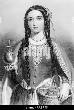 Matilda of Scotland, aka Edith c 1079/80 - 1118.  Queen of Henry I of England. - Stock Photo