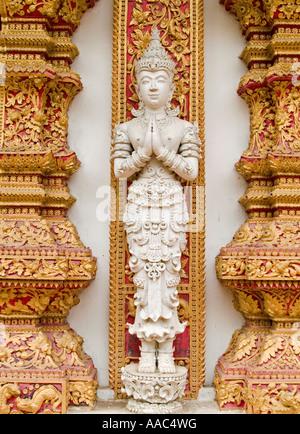 buddha image Wat Bupparam Chiang Mai Thailand - Stock Photo