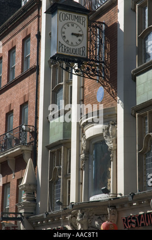 Art nouveau building in Wardour Street London UK Former home of Willy Clarkson a theatrical wigmaker. - Stock Photo