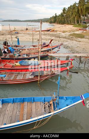 Fishing boats Bo Phut Koh Samui Thailand - Stock Photo