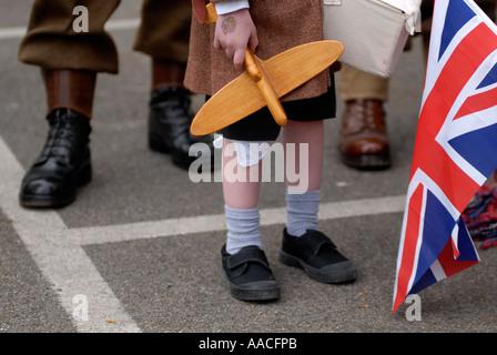 World war 2 re enactors at Eden Camp Museum Yorkshire - Stock Photo