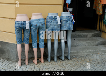 Dummies, jeans fashion - Stock Photo