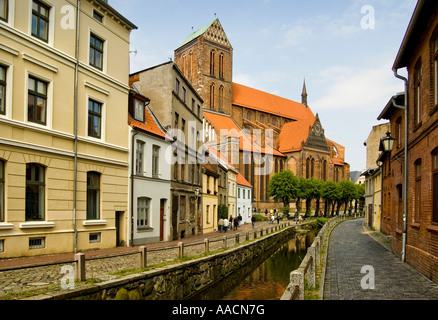 St. Nikolai church, Hanseatic league city, Wismar, Mecklenburg-Western Pomerania, Germany - Stock Photo