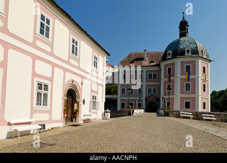 Historic old town of Becov nad Teplou, Bohemia, Czech Republic - Stock Photo