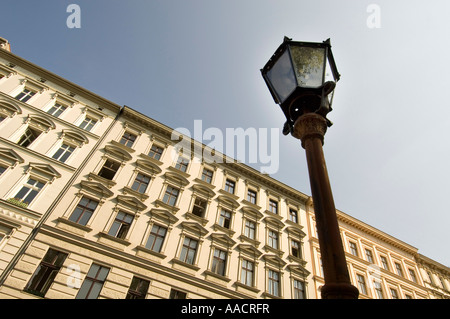 Facades of old buildings, Kreuzberg, Berlin, Germany - Stock Photo
