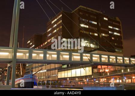 St Mary's Hospital seen from Paddington Basin. London, England - Stock Photo