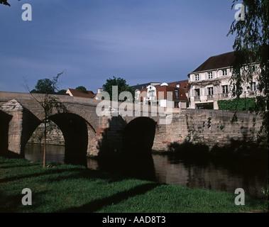 The River Oise at L'Isle Adam - Stock Photo