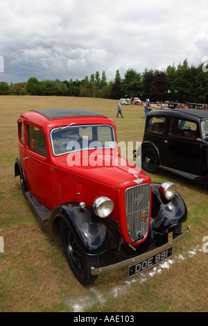 Austin 7 car at a Vintage and veteran car show in Longbridge Birmingham near the old Austin factory - Stock Photo