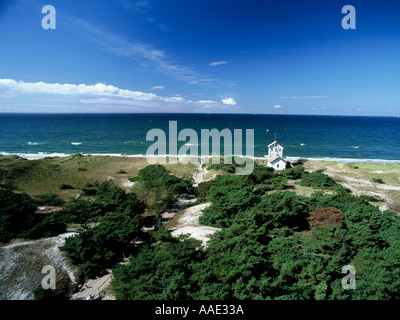 Darsser Ort near Prerow Baltic Sea Germany View from lighthouse - Stock Photo