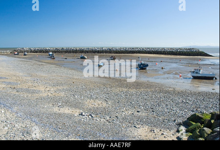 Harbour at Rhos on Sea Colwyn Bay - Stock Photo