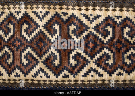 Detail of woollen weaving from northern Persia with geometric motifs - Stock Photo