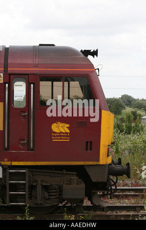 EWS Railway Class 60 Diesel Freight Locomotive at Didcot Station - Stock Photo