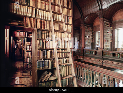 An interior view of the Old Library at Trinity College Dublin, taken from the upper level - Stock Photo