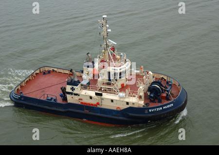Tug boat in Amsterdam, Netherlands - Stock Photo