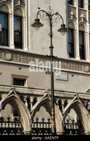 Close-up of the Royal Courts of Justice in The Strand London - Stock Photo