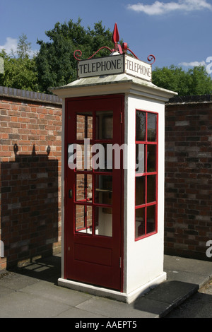 National Telephone Kiosk Collection at the Avoncroft Museum near Bromsgrove Worcestershire UK - Stock Photo
