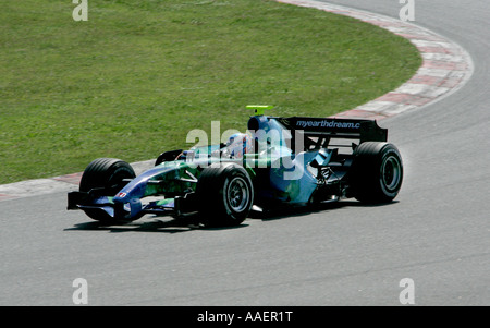 British Formula One motor racing driver Jenson Button of the Honda Racing F1 team in the 2007 car - Stock Photo