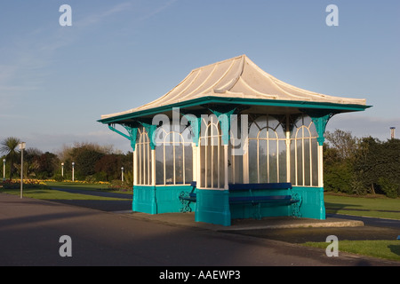 Eccentric Victorian architecture, travel, resort, seaside, coastal Shelter on Marine seafront parade, Southport, - Stock Photo