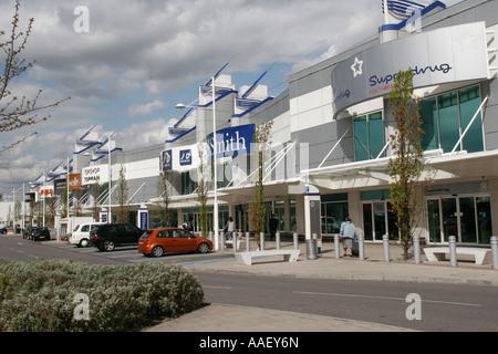 Gallions Reach Retail Shopping Park Becton Newham East London UK - Stock Photo