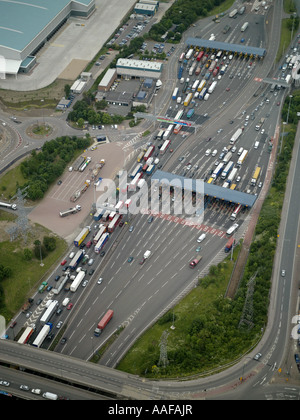 Dartford crossing Toll, Kent, England - Stock Photo