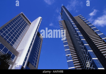 Eureka Tower right Melbourne Victoria Australia - Stock Photo