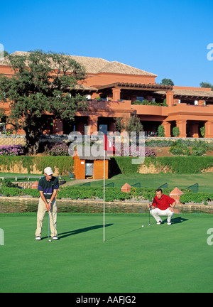 golf course of santa clara in marbella malaga andalusia spain - Stock Photo