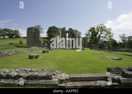 Inch Abbey near downpatrick County Down Northern Ireland game of thrones filming location - Stock Photo