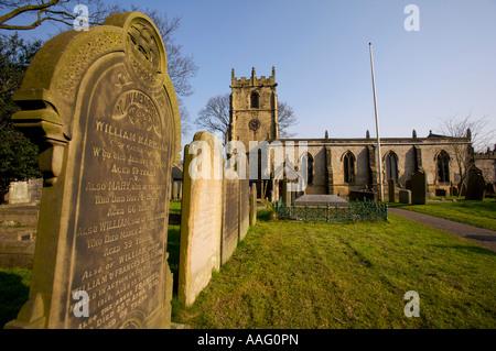 St Edmunds parish church in Castleton Derbyshire UK - Stock Photo