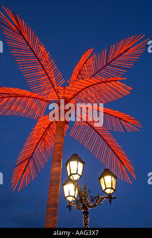 sheraton hotel with exotic tropical lighting and decoration at