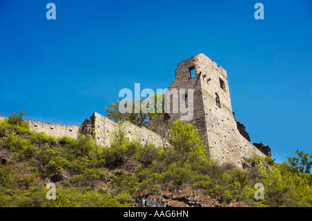 Castle Are ruins at Altenahr in the Ahr Valley, Germany, Europe - Stock Photo