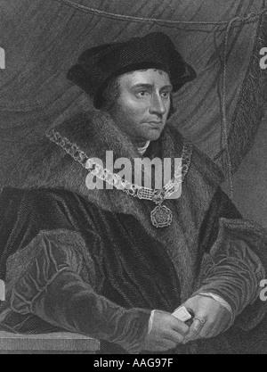 Sir Thomas More 1478 1535 - Stock Photo
