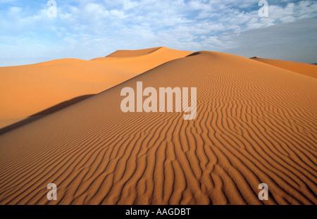 Sand dunes - Erg Chebbi, Merzouga, MOROCCO - Stock Photo