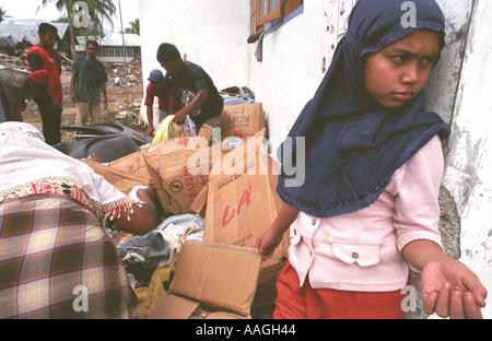 Tsunami Banda Aceh Sumatra Indonesia 2004 - Stock Photo