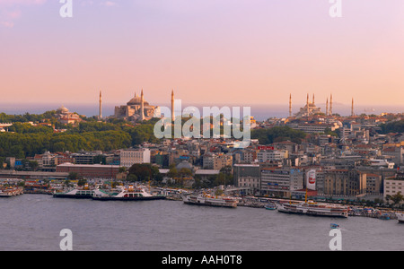 View of Sultanhamet from Galatasary Tower Istanbul - Stock Photo
