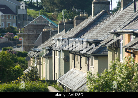 Local authority social housing - council houses on the Penparcau estate Aberystwyth Ceredigion wales - Stock Photo