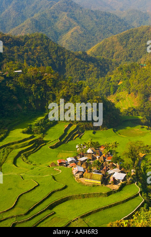 The beautiful pictoresque village of Bangaan early in the morning Luzon The Philippines - Stock Photo